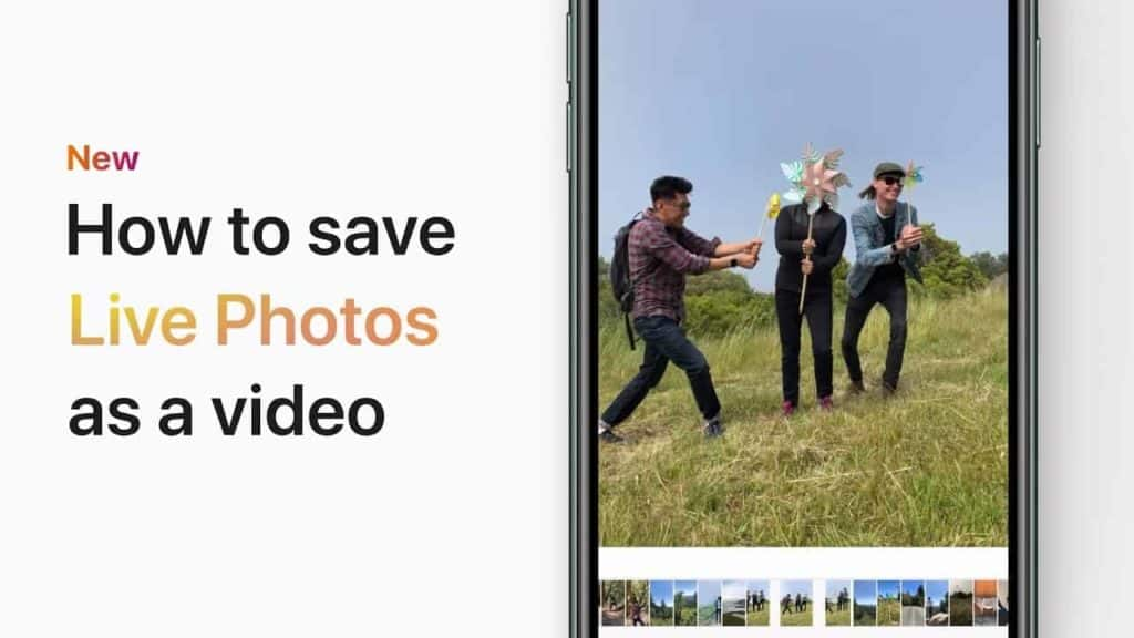 How to Save Live Photos as a Video.