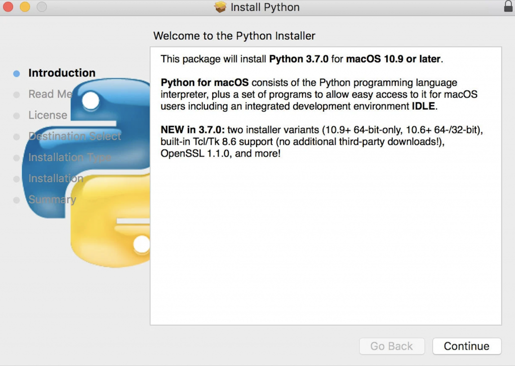 install python on mac